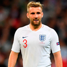 Shaw's injury overshadowed what had been a somewhat chastening night for Southgate's side. Photo by Michael Regan/Getty Images