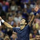 NEW YORK, NY - SEPTEMBER 09: Novak Djokovic of Serbia celebrates after winning his men's Singles finals match against Juan Martin del Potro of Argentina on Day Fourteen of the 2018 US Open at the USTA Billie Jean King National Tennis Center on September 9, 2018 in the Flushing neighborhood of the Queens borough of New York City. (Photo by Matthew Stockman/Getty Images)