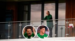 Martin O'Neill anbd (inset) Harry Arter and Declan Rice