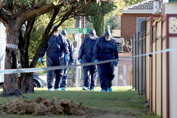 Three children, their mother and grandmother have been found dead (AAP Image/Richard Wainwright)
