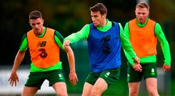 Captain Seamus Coleman is set to miss the Poland friendly with a foot injury. Photo: Stephen McCarthy/Sportsfile