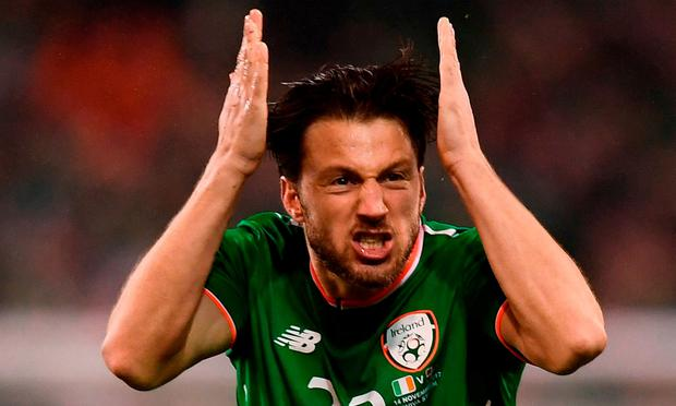 Last Thursday evening in Cardiff, O'Neill said that the issue of the row between his assistant Roy Keane and Harry Arter (pictured) had been put to bed. Photo: Stephen McCarthy/Sportsfile