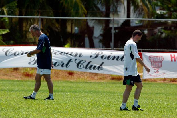 Keane divided the nation when walking out of Ireland's training camp in Saipan ahead of the 2002 World Cup following a row with manager Mick McCarthy. Photo: Andrew Paton/INPHO via Getty Images