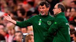 Roy Keane and Martin O'Neill in Cardiff last month