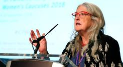 Inaugural event: Historian Mary Beard spoke at the International Women's Caucus in Dublin Castle. Picture: Maxwells