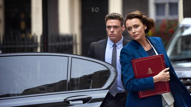 Richard Madden as David Budd and Keeley Hawes as Julia Montague in Bodyguard (Des Willie/BBC)