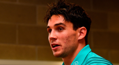 Joey Carbery is expected to make his first start for Munster on Friday against the Ospreys. Photo: Diarmuid Greene/Sportsfile