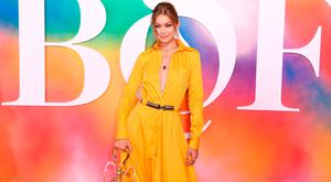 Gigi Hadid attends the #BoF500 gala dinner during New York Fashion Week Spring/Summer 2019 at 1 Hotel Brooklyn Bridge on September 9, 2018 in Brooklyn City. (Photo by Nicholas Hunt/Getty Images for The Business of Fashion)