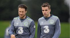Seamus Coleman has been in touch with Harry Arter