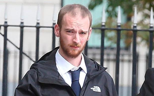 Fraud: Robert Sharkey (23) outside court in Belfast