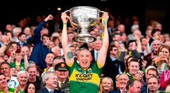 Kerry's Kieran Donaghy lifts the Sam Maguire Cup in 2014. Photo: Sportsfile