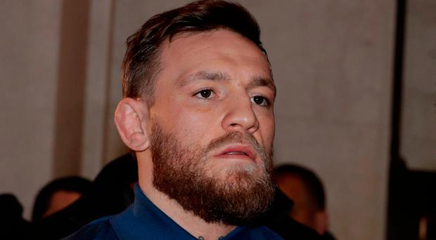 Melee: McGregor admitted disorderly conduct. AP Photo/Julio Cortez