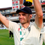 England's James Anderson celebrates after the match. Photo: Reuters/Paul Childs