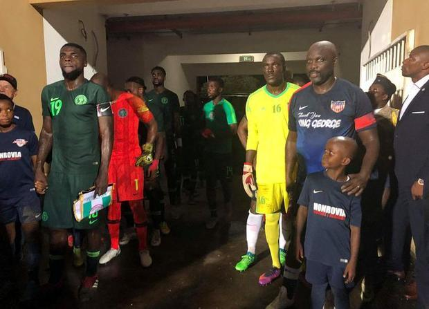 Liberia President Weah makes surprise return to football match against Nigeria
