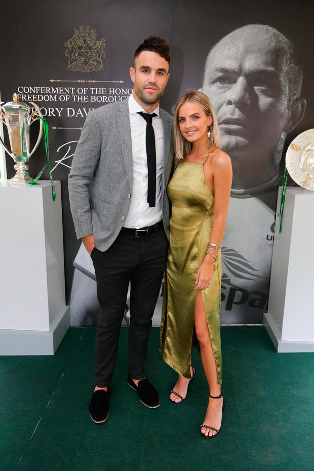 Conor Murray and Joanna Cooper at the Archbishop's Palace in Armagh to see Rory Best's conferment with the Freedom of the Borough of Armagh City, Banbridge and Craigavon. Picture: Kelvin Boyes / Press Eye
