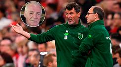 Eamon Dunphy (inset) can't see Roy Keane getting a managerial position after he leaves Ireland