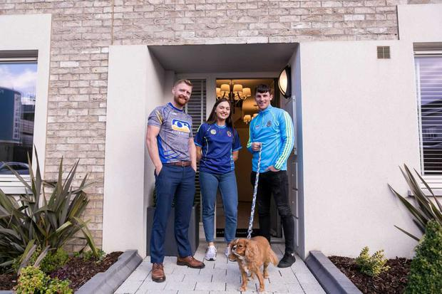 At the launch of the Roscommon GAA/Club Rossie Win A House In Dublin campaign are L-R. Senior Hurler Padraig Dolan, Roscommon Camogie player Maebh Tiernan, Senior Footballer Diarmuid Murtagh