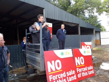 Meath IFA Chairman at protest on farm. Picture: Finbarr O'Rourke