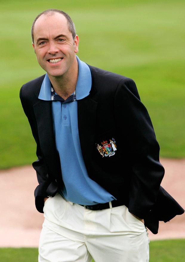 James Nesbitt takes part on the first day of the Northern Rock All Star Cup at the Celtic Manor Resort on August 26, 2006 in Newport, Wales. (Photo by Chris Jackson/Getty Images)