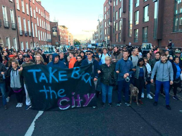 Take Back the City has now occupied three properties in Dublin city centre. Pic: Tony Gavin