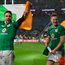 17 March 2018; Conor Murray, left, and Jonathan Sexton of Ireland after the NatWest Six Nations Rugby Championship match between England and Ireland at Twickenham Stadium in London, England. Photo by Brendan Moran/Sportsfile