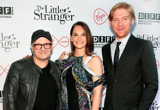Première: Lenny Abrahamson with Ruth Wilson and Domhnall Gleeson at 'The Little Stranger' in the Lighthouse Cinema. Photo: Brian McEvoy