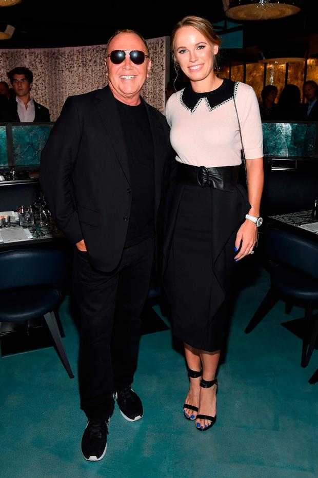 Michael Kors and Caroline Wozniacki attend the Michael Kors x 10 Corso Como Dinner at 10 Corso Como on September 12, 2018 in New York City. (Photo by Larry Busacca/Getty Images for Michael Kors)