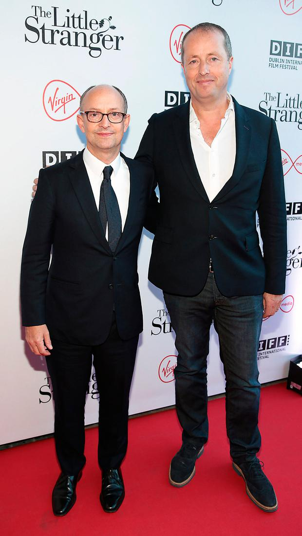 Ed Guiney and Andrew Lowe at the European Premiere of The Little Stranger, presented in association with Pathé and the Virgin Media Dublin International Film Festival at the Lighhouse Cinema,Dublin Pic Brian McEvoy No Repro fee for one use