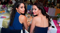 Meghan Markle and Jessica Mulroney attend the Instagram Dinner held at the MARS Discovery District on May 31, 2016 in Toronto, Canada. (Photo by George Pimentel/WireImage)