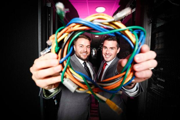 L-R: Seamus Dunne, Sales Manager, Conversation Piece and Shane Tully, Head of Carrier Services, Agility Communications. Picture: Conor McCabe Photography.
