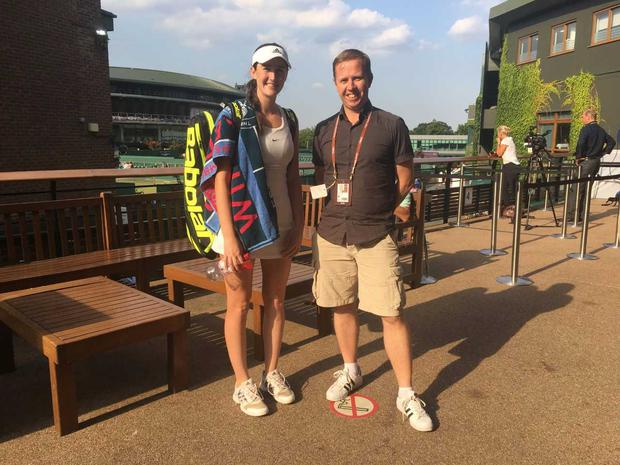Georgia Drummy, pictured alongside Independent.ie's Kevin Palmer at Wimbledon