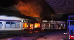 The building was set on fire in the early hours of Monday morning Photo: Ger Lacey