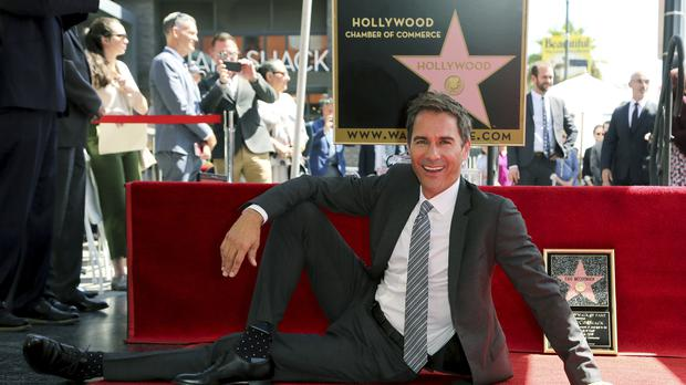 Will and Grace star Eric McCormack with his star (Willy Sanjuan/Invision/AP)