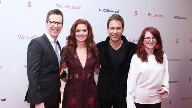 Sean Hayes, Debra Messing, Eric McCormack and Megan Mullally from the cast of Will and Grace (Isabel Infantes/PA)