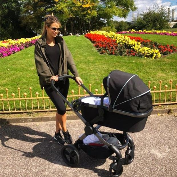 Vogue Williams with her baby son. Picture: Instagram