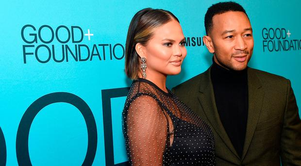 Chrissy Teigen (L) and John Legend attend the 2018 GOOD+ Foundations Evening of Comedy + Music Benefit, presented by Samsung Electronics America at Carnegie Hall on September 12, 2018 in New York City. (Photo by Jamie McCarthy/Getty Images for GOOD+ Foundation)