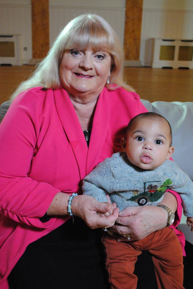Kay Cramp and her baby grandson Lar from The Rotunda
