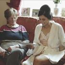 A still from the emotional wedding video by WeddingMoments.ie