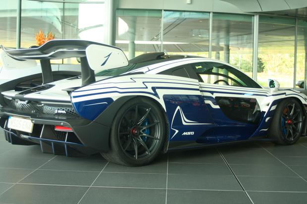 A real McLaren Senna at the McLaren Technology Centre in Woking. Photo: Ronan Price