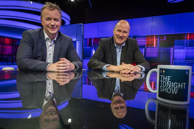 Matt Cooper and Ivan Yates, hosts of TV3's The Tonight Show. Photo: Arthur Carron