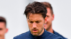 Harry Arter trains with the Republic of Ireland squad. Photo: Seb Daly/Sportsfile