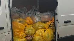 The PSNI have taken to social media to show people what happens to drugs confiscated during their investigations.
