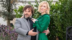 Jack Black and Cate Blanchett during the world premiere of The House with a Clock in Its Walls at Westfield in White City, London. Photo: PA