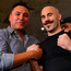 Gary 'Spike' O'Sullivan with Oscar De La Hoya (left) ahead of his middlewieght bout against David Lemieux in Las Vegas tonight. Photo: Sportsfile