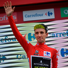 Simon Yates consolidated his lead over Valverde to 1'38. Photo: AP