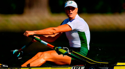 Golden Eye: Sanita Puspure booked her place in the final of the Single Sculls at the World Rowing Championships. Photo: Seb Daly/Sportsfile