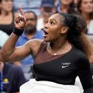 Serena Williams makes her point before being docked a game during the US Open final. Photo: USA TODAY Sports