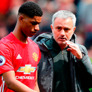 File photo dated 30-04-2017 of Manchester United's Marcus Rashford and manager Jose Mourinho. Photo: Martin Rickett/PA