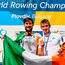 Paul O'Donovan, left, and Gary O'Donovan of Ireland on the podium