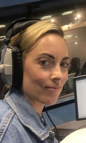 Kathryn Thomas on her first day back at work, filling in for Ray D'Arcy on RTE Radio 1 PIC: Kathryn Thomas/ Instagram